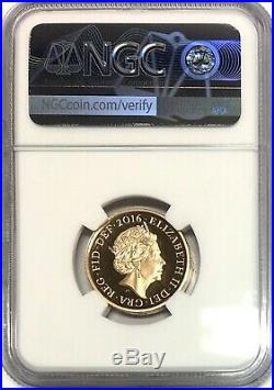 2016 Gold Proof One Pound Coin, Last Round £1, NGC PF69 Ultra Cameo
