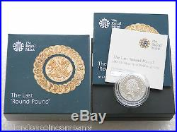 2016 Last Round Pound Piedfort £1 One Pound Silver Proof Coin Box Coa