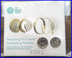 2016 One pound £1 Coins In Royal Mint Pack Cross Crosslet Rare Mintmark