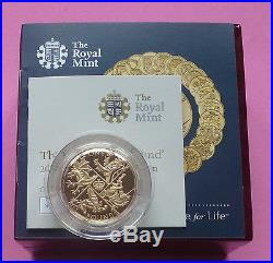 2016 Uk Gold Proof £1 One Pound Coin Last Round Pound
