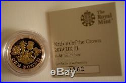 2017 £1 One Pound Nations Of The Crown Gold Proof Coin 17.72g Boxed & COA