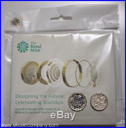 2017 2016 Farewell and Nations of the Crown BU £1 One Pound 2 Coin Set Privy