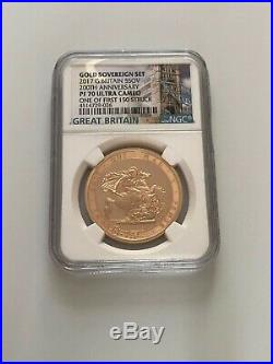 2017 Five Pound Sovereign PF70 Ultra Came One Of First 150 Struck