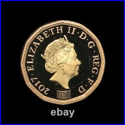 2017 Gold Proof £1- one pound coin -Nations of the Crown- with COA Royal Mint
