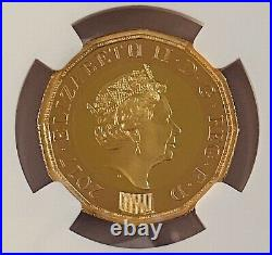 2017 Gold Proof Nations Of The Crown £1 One Pound NGC PF70 UC. Box And Coa