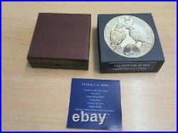 2017 Isle Of Man £1 One Pound Gold Proof Triskele Peregrine Falcon Raven Box Coa