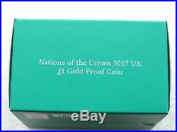 2017 Nations of the Crown £1 One Pound Gold Proof Coin Box Coa