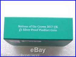 2017 Nations of the Crown Piedfort £1 One Pound Silver Proof Coin Box Coa