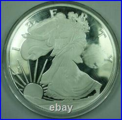 2017 Proof One Quarter Pound (4oz). 999 Fine Silver Silver Eagle Design