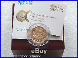 2017 Royal Mint Nations of the Crown £1 One Pound Gold Proof Coin Box Coa