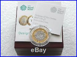 2017 Royal Mint Nations of the Crown £1 One Pound Platinum Proof Coin Box Coa