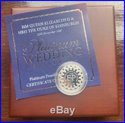 2017 Royal Wedding Anniversary Platinum Proof One Pound Piece £1 Boxed