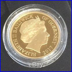 2017 sapphire jubilee gold proof one pound coin boxed with coa # 302