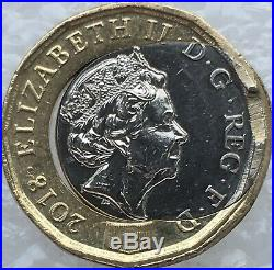 2018 One Pound £1 Coin Minting Huge Error Off Centre Collar Slip