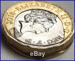2018 One Pound £1 Coin Minting Huge Error Off Centre Collar Slip Error 2