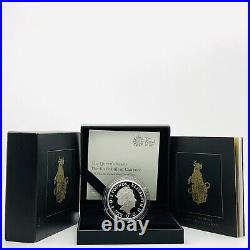 2018 Rm Queens Beasts Black Bull Of Clarence Silver Proof 1oz £2 Two Pounds Coin
