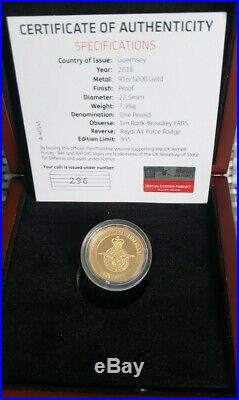 2018 The RAF Centenary Gold Proof One Pound Coin VERY LOW 285 COA! SOLD OUT