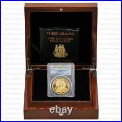 2020 Alderney Three Graces Gold Proof Five Pounds £5 PCGS PR70 First Strike