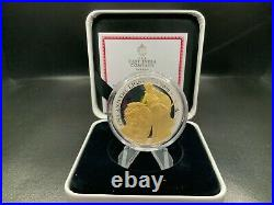 2020 Gold Plated Silver Proof Una and the Lion St Helena £1 One Pound