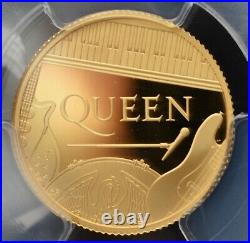 2020 Music Legends Queen £25 Pound Gold Proof 1/4oz Coin PCGS PR70 DCAM Britain