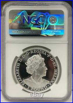2020 St. Helena One Pound Una & The Lion 1 oz. 999 Silver Proof Coin NGC PF 69