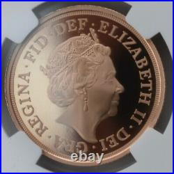 2021 Gold Proof Double Sovereign £2 Two Pound NGC PF70 Great Britain 95 Privy