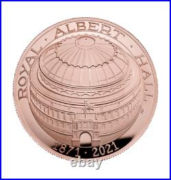 2021 Royal Albert Hall 150th Anniversary Gold Proof Domed Five Pounds £5