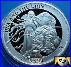 2021 ST HELENA Una and The Lion East India Company £1 Pound Silver Proof Coin
