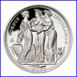 2021 St Helena'The Three Graces' 1oz Silver Proof One Pound Boxed with Cert