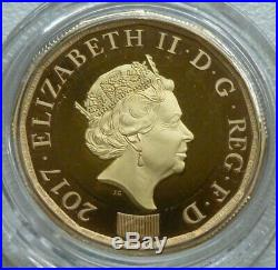 22ct Gold Proof UK £1 One Pound 2017 Nations of the Crown Royal Mint Boxed 17.7g