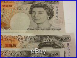3 consecutive kentfield 10 pound banknotes and one other 1993 near unc condition