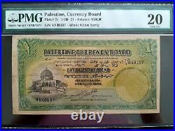 =30 OFF= Palästina 1939 one pound ein Pfund ORIGINAL PMG VF-20