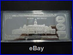 4 Troy Ounces. 999 Silver Bar- 2016 One Hundred Dollar Quarter Pound Silver Note