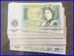 40 x CONSECUTIVE ISAAC NEWTON £1 ONE POUND NOTES SIGNED BY DAVID SOMERSET RARE