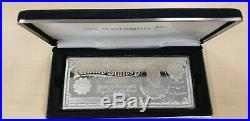 $5 Five Silver Dollars One Troy Pound Proof. 999 Silver Note Bar withCase and COA
