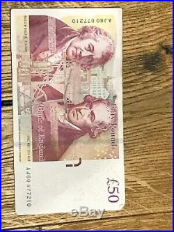 50 Pounds Note 007 one Serial
