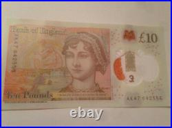 Ak47 £10 New Ten Pound Note Polymer Rare Ak47 Serial Number. Excellent Condition
