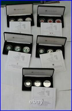 Alderney Tristan Da Cunha £1 One Pound £2 Two £5 Coin Collection Limited 499