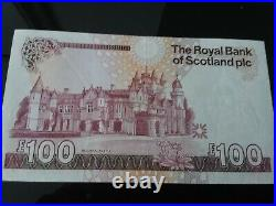 Almost Uncirculated Royal Bank Of Scotland One Hundred Pound Note £100