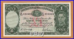 Australia 1942 One Pound Armitage/McFarlane Pick-26b Serial 433988 High Grade