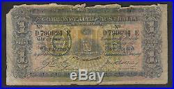 Australia R-21. (1918) Cerutty/Collins One Pound. D Prefix, E Suffix. Good