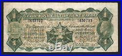 Australia R-23b. (1923) One Pound Miller/Collins. No Imprint. George V aF-F