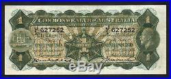 Australia R-25. One Pound (1927) Kell/Heathershaw. George V Portrait. GVF