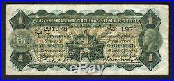 Australia R-26. One Pound (1927) Riddle/Heathershaw. George V Portrait. Fine+
