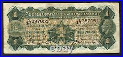Australia R-26. One Pound (1927) Riddle/Heathershaw. George V Portrait. Fine