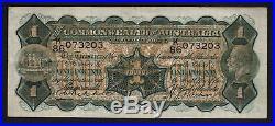 Australia R-27b. (1932) One Pound. Riddle/Sheehan. George V Portrait. VF