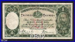 Australia R-28. (1933) One Pound. Riddle/Sheehan. Legal Tender Issue. Fine+