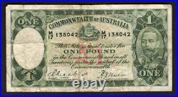 Australia R-28. (1933) One Pound. Riddle/Sheehan. Legal Tender Issue. Fine