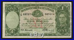 Australia R-31S. (1949) Coombs/Watt One Pound STAR NOTE. AF-F