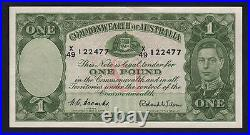 Australia R-32. (1952) One Pound Coombs/Wilson. King George VI. AEF-EF